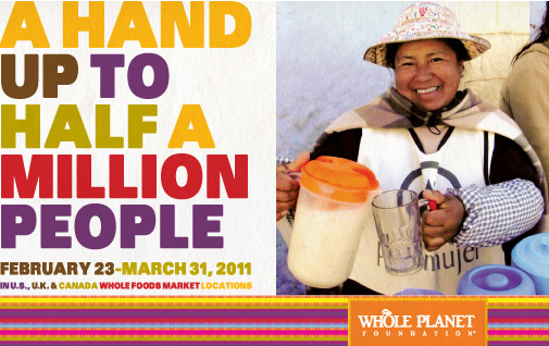 wf0225 - Whole Foods Kicks Off Campaign to Fund Micro Loans; Offers Chance To Win Philanthropy Trip